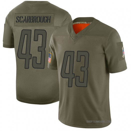 Nike Bo Scarbrough Detroit Lions Limited Camo 2019 Salute to Service Jersey - Men's