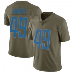 Nike C.J. Moore Detroit Lions Limited Green 2017 Salute to Service Jersey - Youth