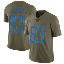Nike Jesse James Detroit Lions Limited Green 2017 Salute to Service Jersey - Youth