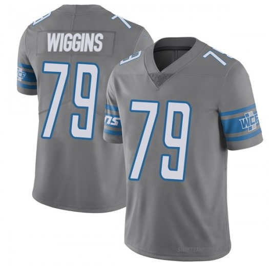 Nike Kenny Wiggins Detroit Lions Limited Color Rush Steel Vapor Untouchable Jersey - Youth