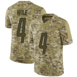 Nike Matt Wile Detroit Lions Limited Camo 2018 Salute to Service Jersey - Men's