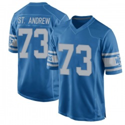 Nike Micah St. Andrew Detroit Lions Game Blue Throwback Vapor Untouchable Jersey - Youth