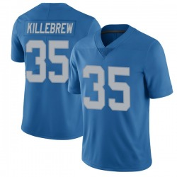 Nike Miles Killebrew Detroit Lions Limited Blue Throwback Vapor Untouchable Jersey - Youth