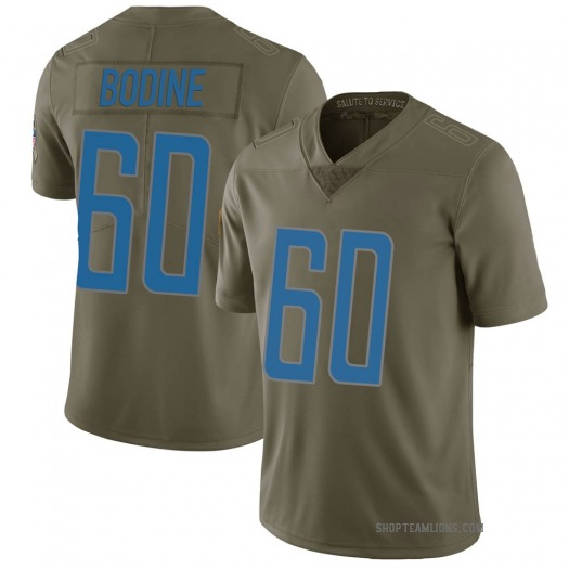 Nike Russell Bodine Detroit Lions Limited Green 2017 Salute to Service Jersey - Men's
