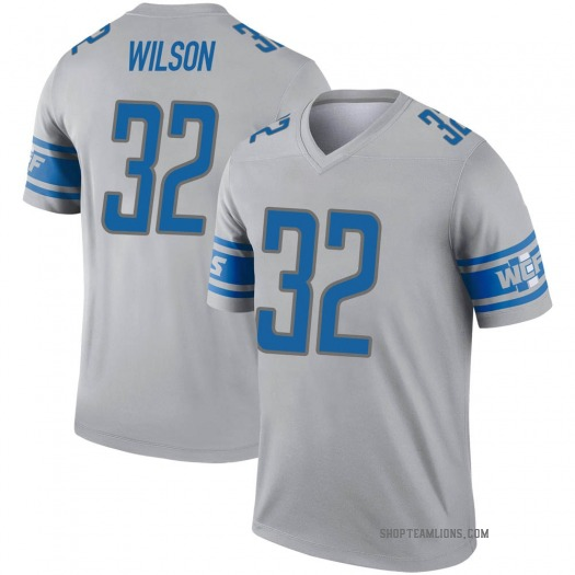 Nike Tavon Wilson Detroit Lions Legend Gray Inverted Jersey - Men's