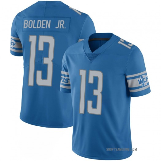 Nike Victor Bolden Jr. Detroit Lions Limited Blue 100th Vapor Jersey - Men's