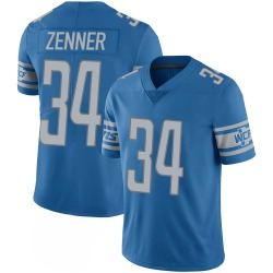 Nike Zach Zenner Detroit Lions Limited Blue 100th Vapor Jersey - Youth