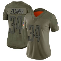 Nike Zach Zenner Detroit Lions Limited Camo 2019 Salute to Service Jersey - Women's