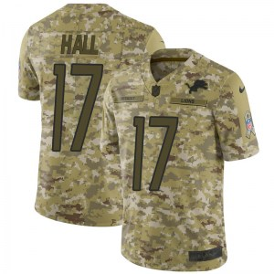 Nike Marvin Hall Detroit Lions Limited Camo 2018 Salute to Service Jersey - Men's
