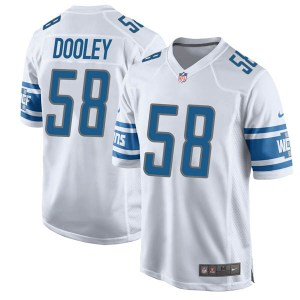 Nike Garret Dooley Detroit Lions Game White Jersey - Youth