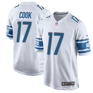 Nike Connor Cook Detroit Lions Game White Jersey - Men's
