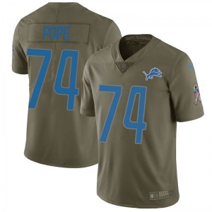 Nike Ryan Pope Detroit Lions Limited Green 2017 Salute to Service Jersey - Men's
