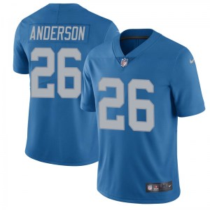 Nike C.J. Anderson Detroit Lions Limited Blue Throwback Vapor Untouchable Jersey - Youth