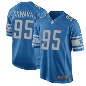 Nike Romeo Okwara Detroit Lions Game Blue Team Color Jersey - Youth