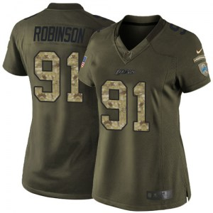Nike A'Shawn Robinson Detroit Lions Limited Green Salute to Service Jersey - Women's