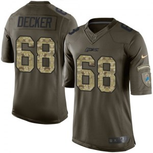 Nike Taylor Decker Detroit Lions Limited Green Salute to Service Jersey - Men's