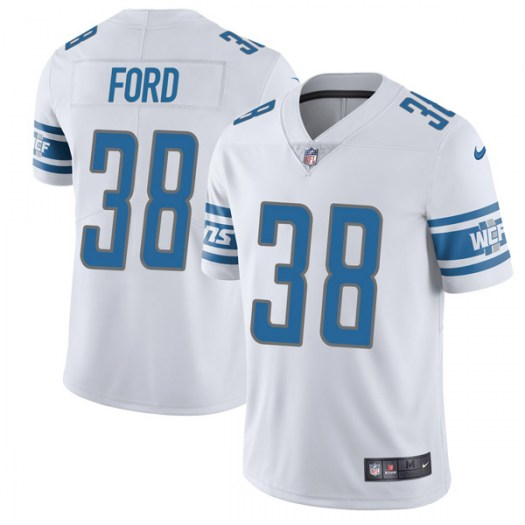 Nike Mike Ford Detroit Lions Limited White Vapor Untouchable Jersey - Youth