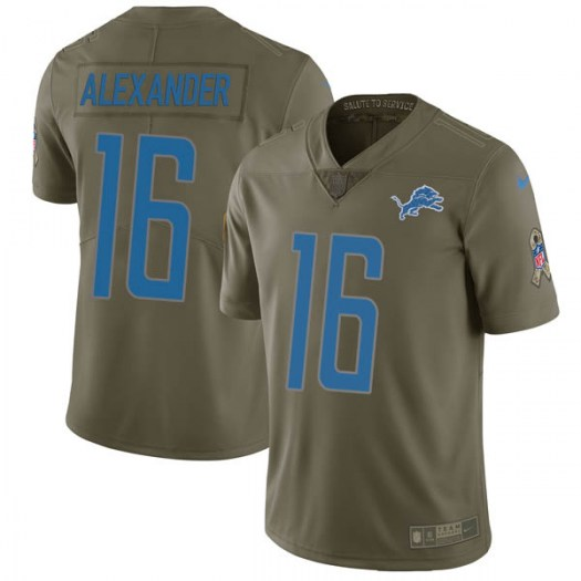 Nike Deontez Alexander Detroit Lions Limited Green 2017 Salute to Service Jersey - Youth