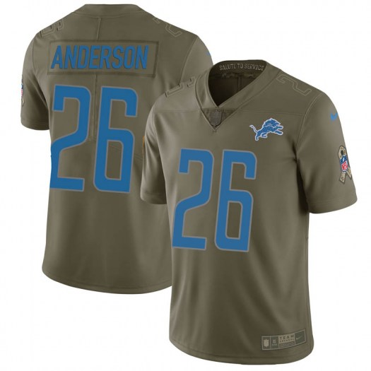 Nike C.J. Anderson Detroit Lions Limited Green 2017 Salute to Service Jersey - Youth