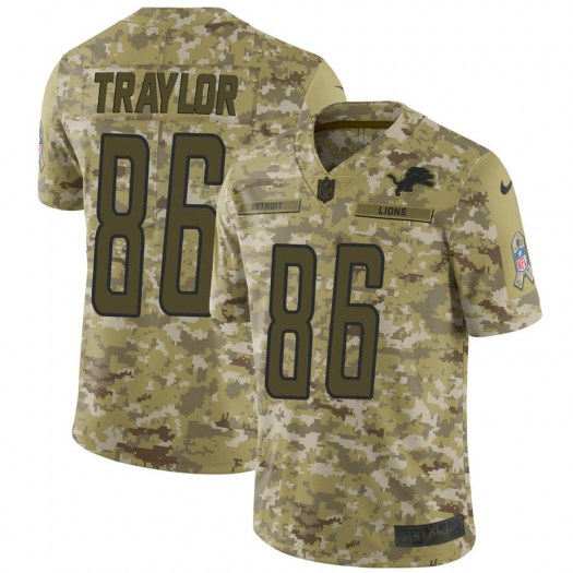 Nike Austin Traylor Detroit Lions Limited Camo 2018 Salute to Service Jersey - Youth