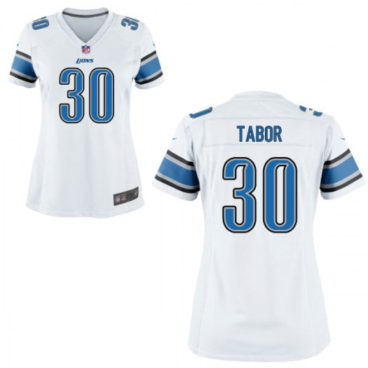 Nike Teez Tabor Detroit Lions Game White Jersey - Women's