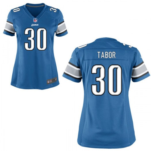 Nike Teez Tabor Detroit Lions Game Light Blue Jersey - Women's