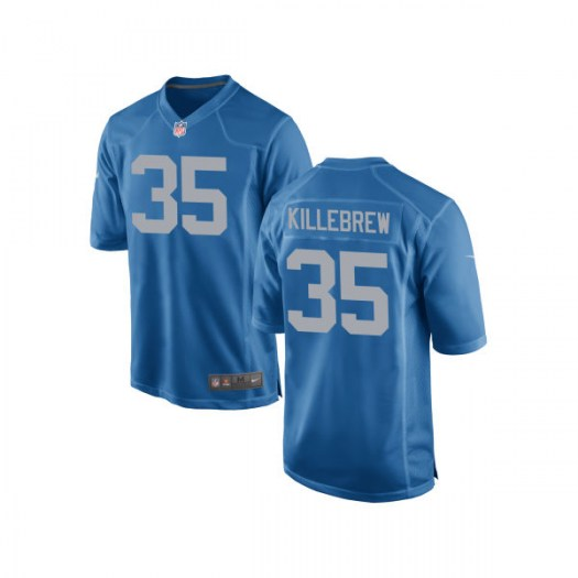 Nike Miles Killebrew Detroit Lions Game Royal Alternate Jersey - Youth