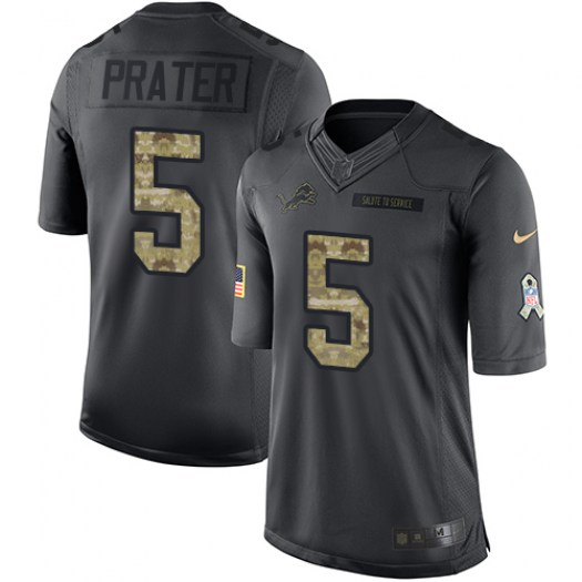 Nike Matt Prater Detroit Lions Limited Black 2016 Salute to Service Jersey - Youth